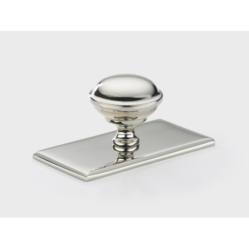Armac Martin QKR Queslett Cabinet Knob on a Rectangle Plate