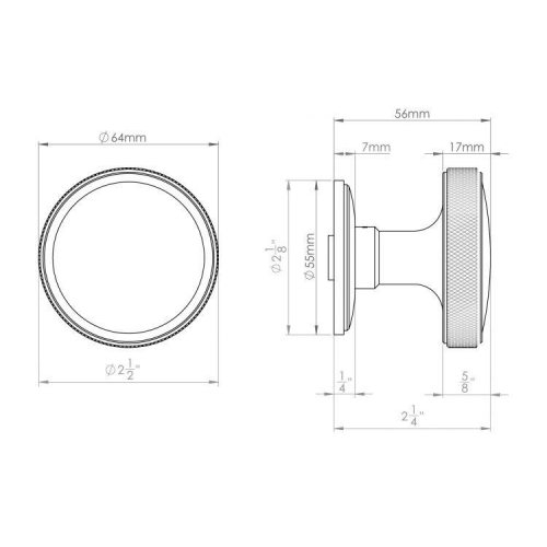 Croft Argyle Mortice 64mm Door Knob on a Concealed Fix Rose