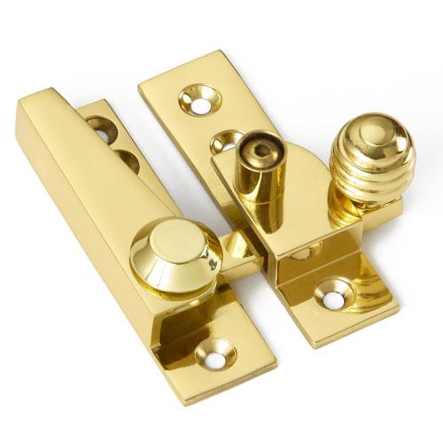 Croft 1035L Reeded Knob Sash Window Fastener - Locking