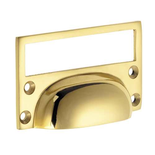 Croft 1822 Cast Drawer Cup Handle with Card Frame