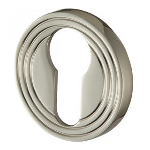 Contemporary 232 Round Reeded Escutcheon Euro Profile