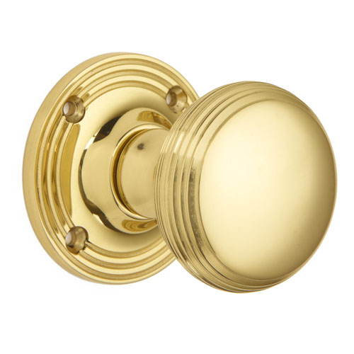 Croft 6347 Pair Reeded Cushion Mortice Door Knob