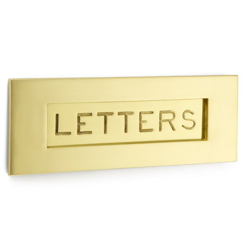 Croft 6355 Letter Plate - Engraved Letters