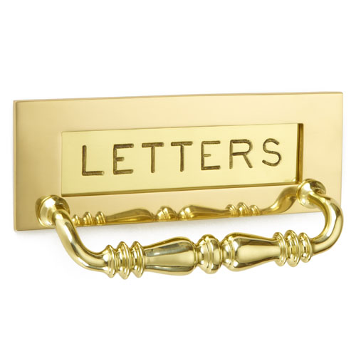 Croft 6358 Letter Plate with Handle- Engraved Letters
