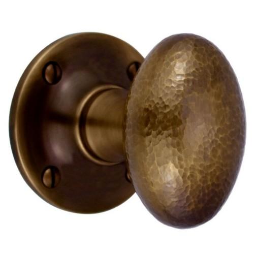 Hammered Oval Mortice Knob Furniture H1754