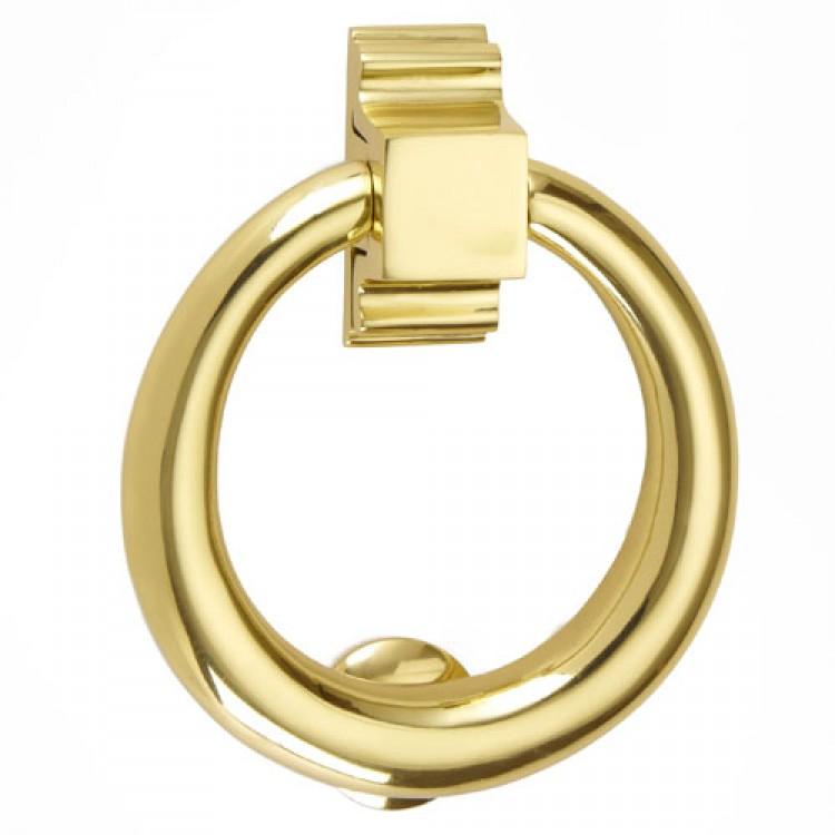 Croft Hardware 1893 Round Ring Door Knocker Brass Chrome