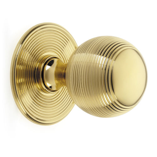 Croft 6407 Large Reeded Ball Centre Door Knob