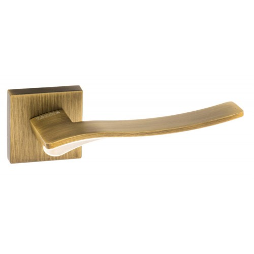 Atlantic UK Forme Olimpia FMS280 Door Handle on a Square Minimal Rose