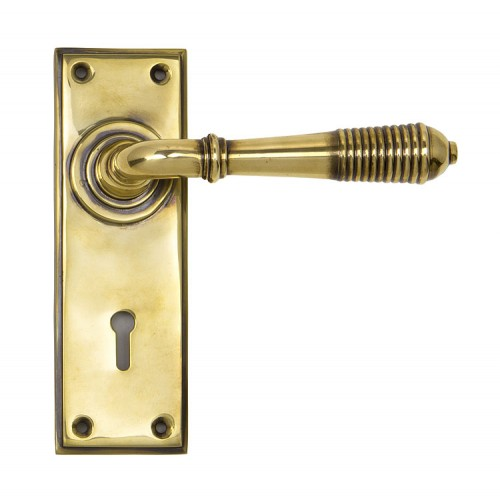 From the Anvil Reeded Lever Lock Set