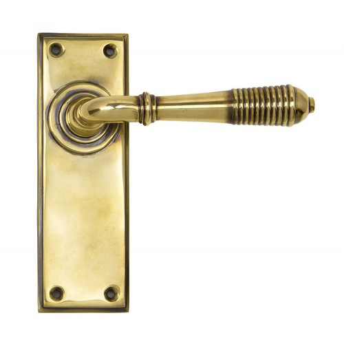 From the Anvil Reeded Lever Latch Set