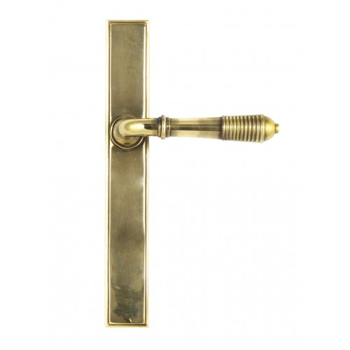 From the Anvil Reeded Slimline Sprung Lever Latch Set