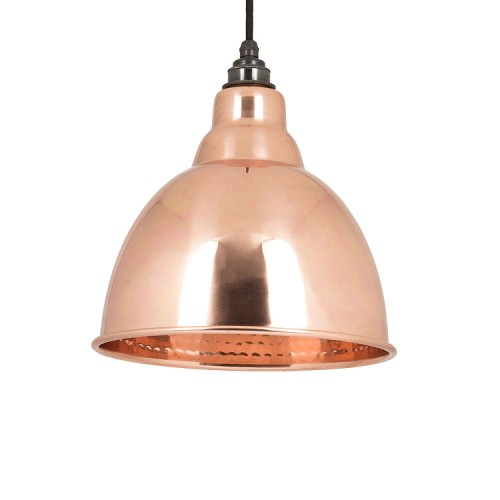 From the Anvil Brindley Pendant Hammered Copper Ceiling Light