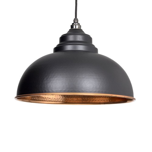 From the Anvil Harborne Pendant Hammered Copper Ceiling Light