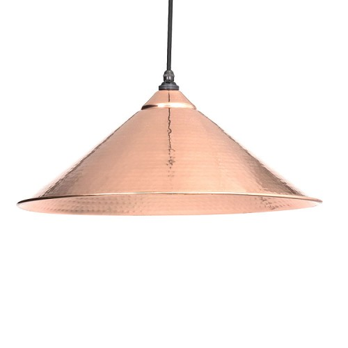 From the Anvil Yardley Pendant Hammered Copper Ceiling Light