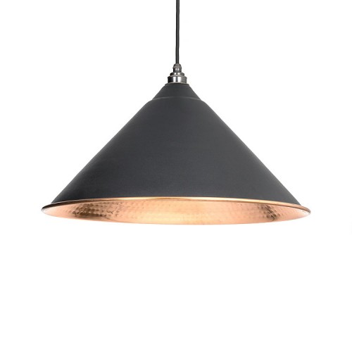 From the Anvil Hockley Pendant Hammered Copper Ceiling Light