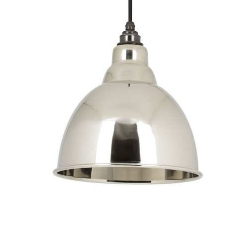 From the Anvil Brindley Pendant Smooth Nickel Ceiling Light