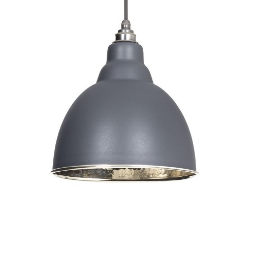 From the Anvil Brindley Pendant Hammered Nickel Ceiling Light