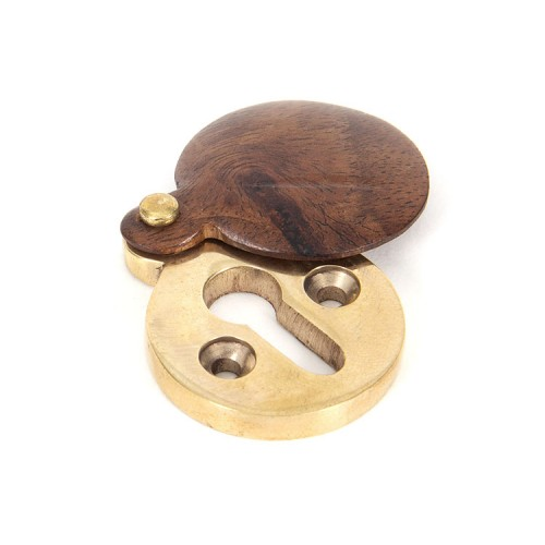From the Anvil Round Wooden Covered Escutcheon