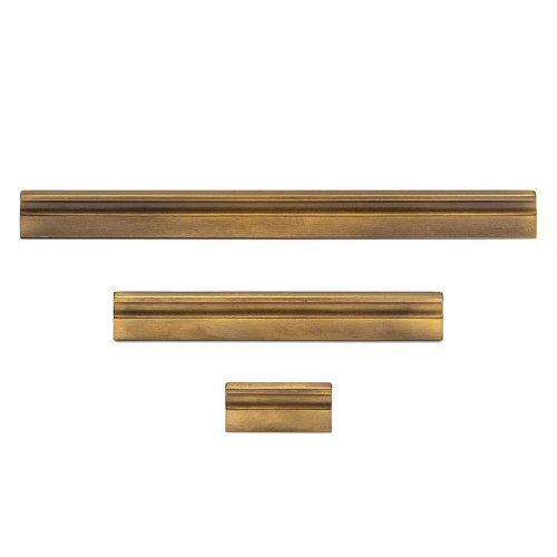 Henry Blake Hardware Flat Bar Grooved Cabinet Pull