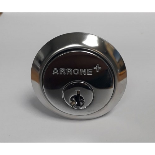 Replacement Rim Cylinder Lock Polished Chrome by Arrone Hoppe