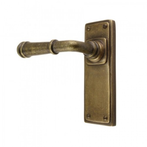 Louis Fraser Themes 711 Ribbed Lever Handle on a Back Plate