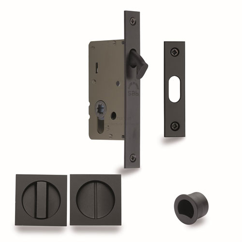 Sliding Door Lock with Square Privacy Turns