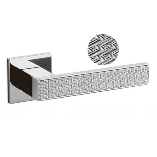Olivari Diana Chevron Door Handle on a Square Rose
