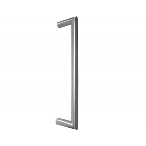 Mitred Pull Handle Satin Stainless Steel Bolt Through