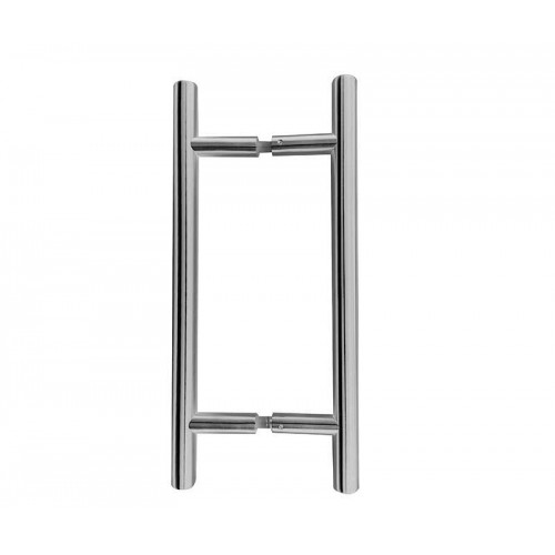 Pair of Back to Back Guardsman Pull Handles Polished Stainless Steel