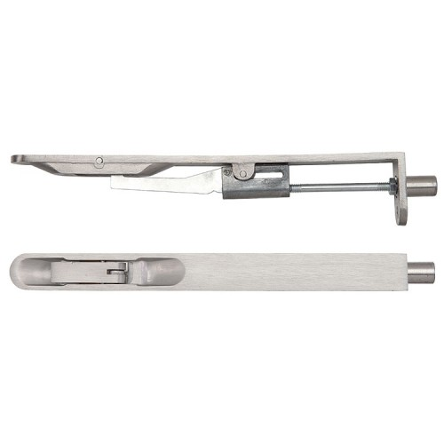 ZOO Hardware ZAS Lever Action Flush Bolt Radius Profile - Stainless Steel