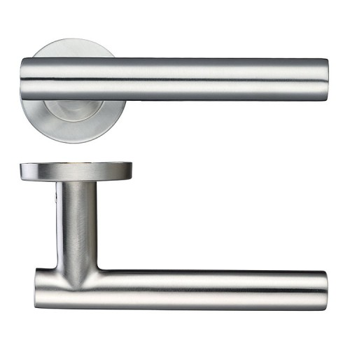 ZOO Hardware T-Bar Door Lever on a Rose - ZCS2130SS