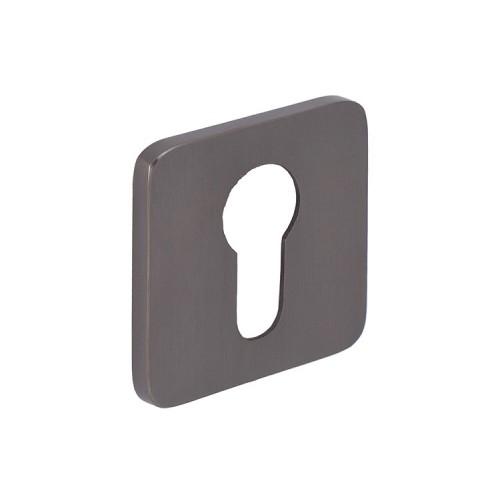 Square Euro Profile Concealed Keyhole Escutcheon