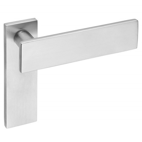 DND by Martinelli Due Lever Door Handle on Backplate
