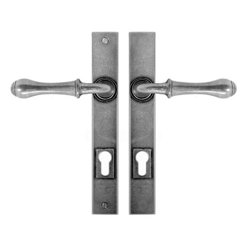 Finesse Design Derwent Multipoint Entry Door Handle in Pewter