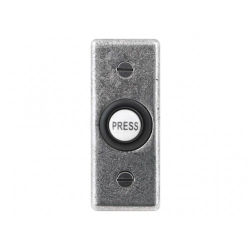 Finesse Design Rectangle Bell Push in Pewter