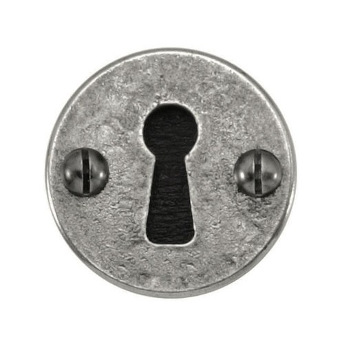 Finesse Design Round Keyhole Escutcheon in Pewter