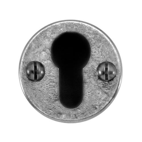 Finesse Design Round Euro Keyhole Escutcheon in Pewter