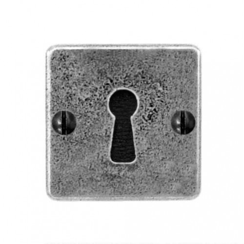 Finesse Design Square Keyhole Escutcheon (Jesmond) in Pewter