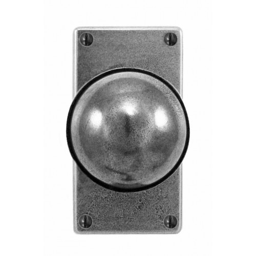 Finesse Design Beamish Range Door Knob on a Jesmond Short Back Plate in Pewter