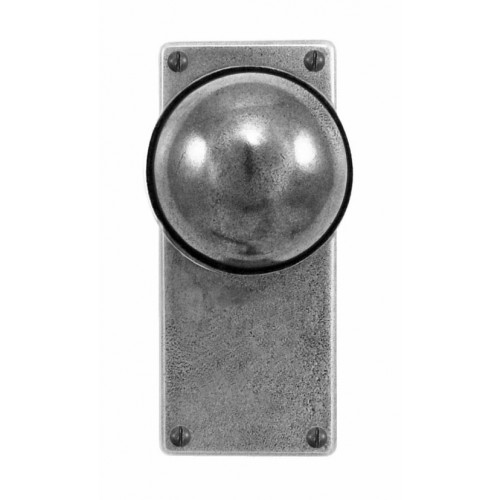 Finesse Design Beamish Range Door Knob on a Jesmond Back Plate in Pewter