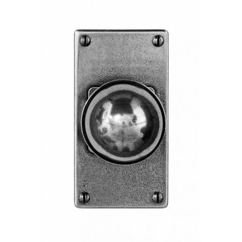 Finesse Design Pelton Range Door Knob on a Short Jesmond Back Plate in Pewter
