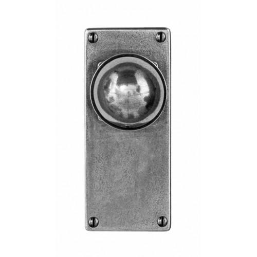 Finesse Design Pelton Range Door Knob on a Jesmond Back Plate in Pewter