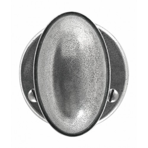 Finesse Design Lincoln Range Door Knob on a Round Rose in Pewter