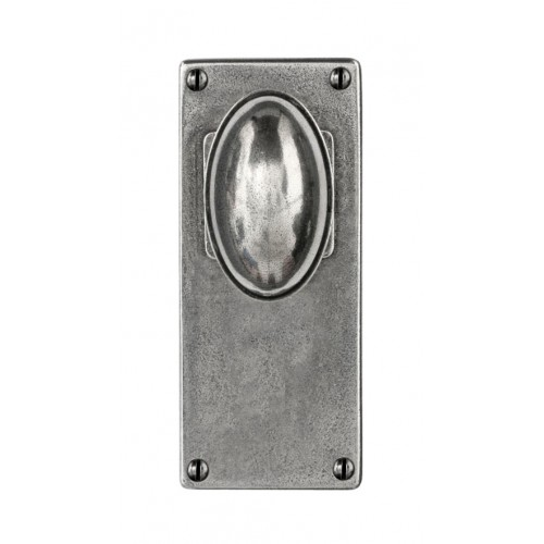 Finesse Design Lincoln Range Door Knob on a Jesmond Back Plate in Pewter