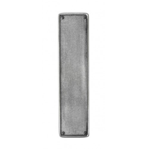 Finesse Design Finger Plate in Pewter