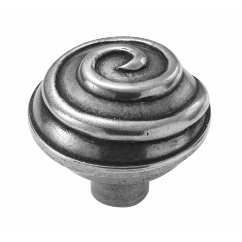 Finesse Design Swirl Cabinet Knob in Pewter
