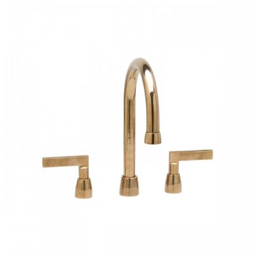 Lavatory Deck Mount Faucet with 327 mm Gooseneck Spout
