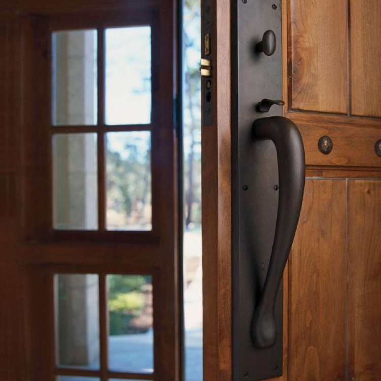Rocky Mountain Hardware Bronze Entry Sets Thumb Latchpull Handles