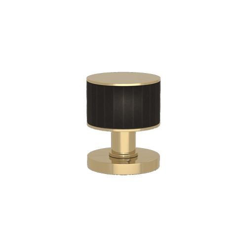 P6200 Stacked Faceted Turnstyle door knob In Combination Amalfine on Round Rose