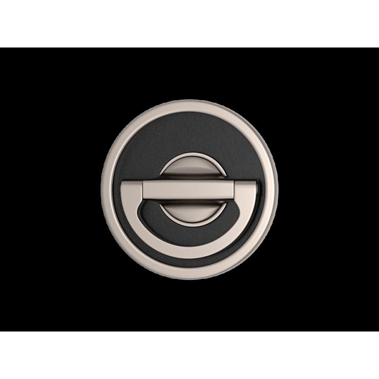 Turnstyle designs round leather flush sliding door handle for Door design round